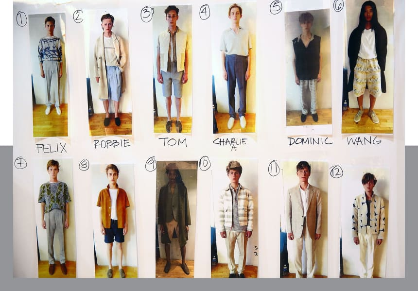 The lineup for a 2015 New York Fashion Week show.