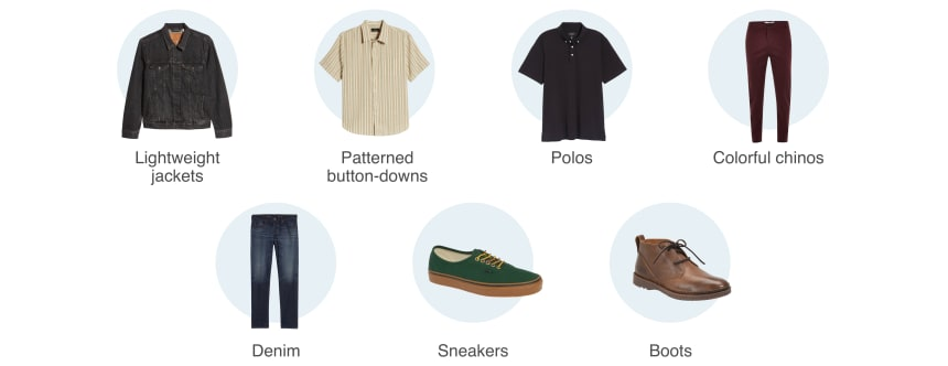 Creative professional wardrobe