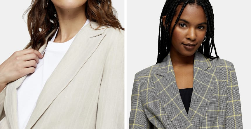 linen and plaid blazers