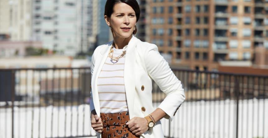 working woman in blazer