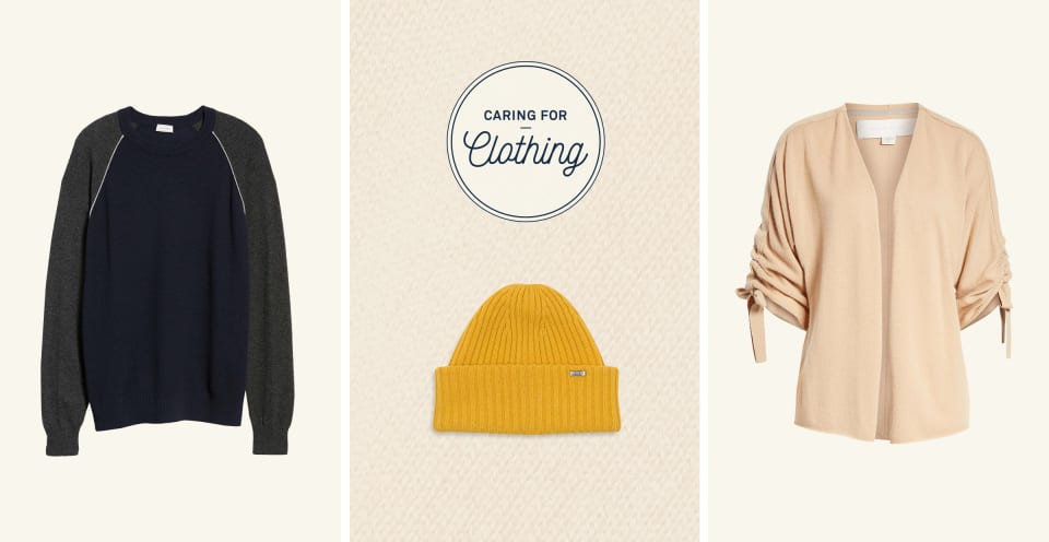 Cashmere sweaters and accessories