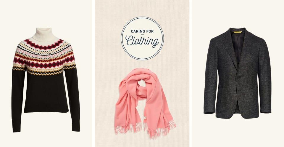 wool sweater, wool scarf, wool blazer