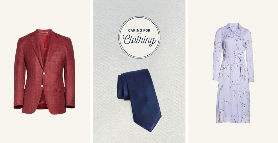 silk blazer, silk tie, silk blouse
