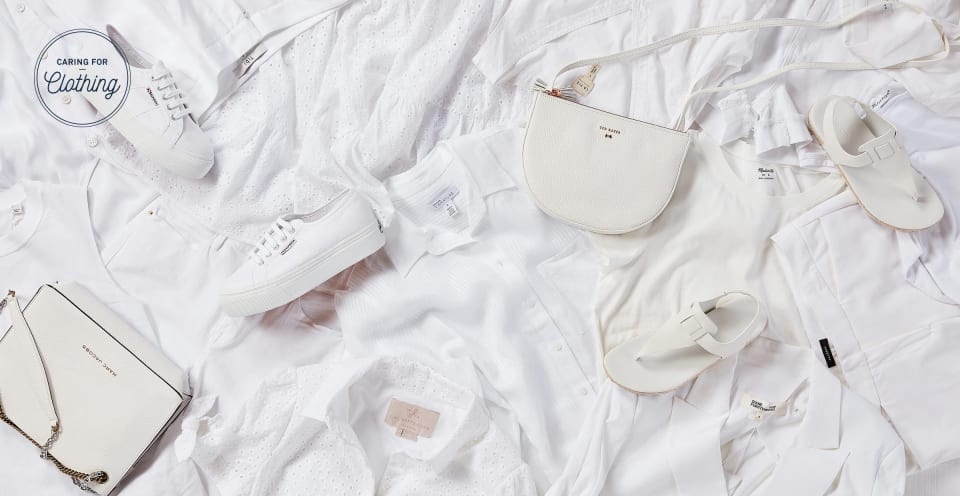 White clothing and accessories