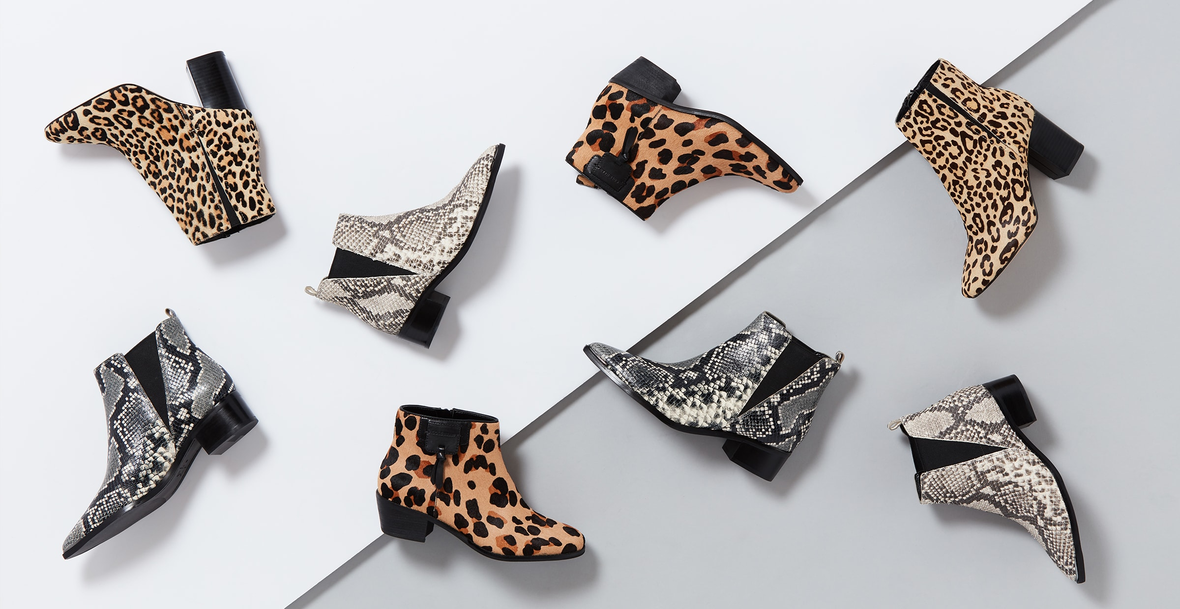 Women's animal printed ankle boots