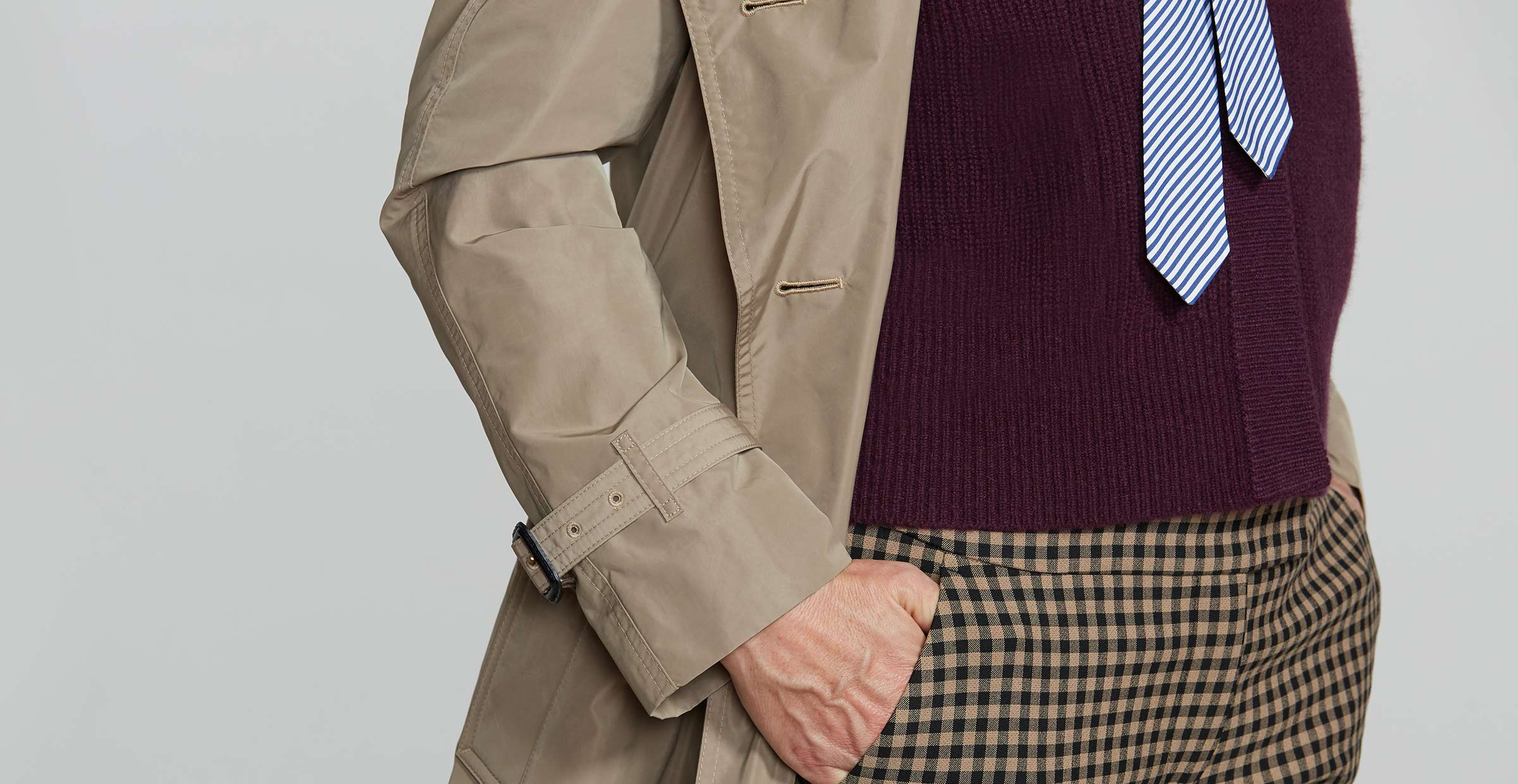 Detail shot of women's layered outfit