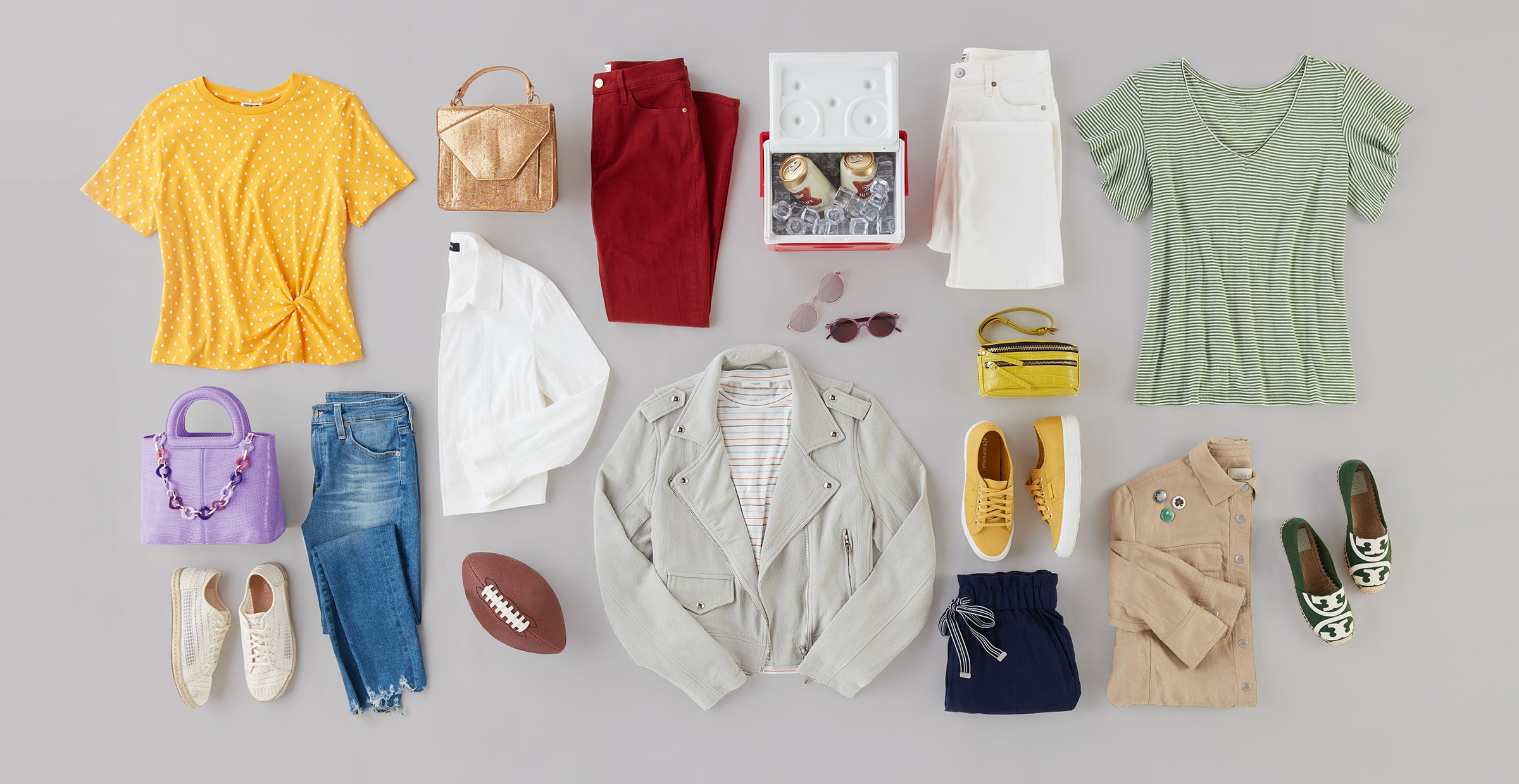 Colorful and comfortable game day outfits for women