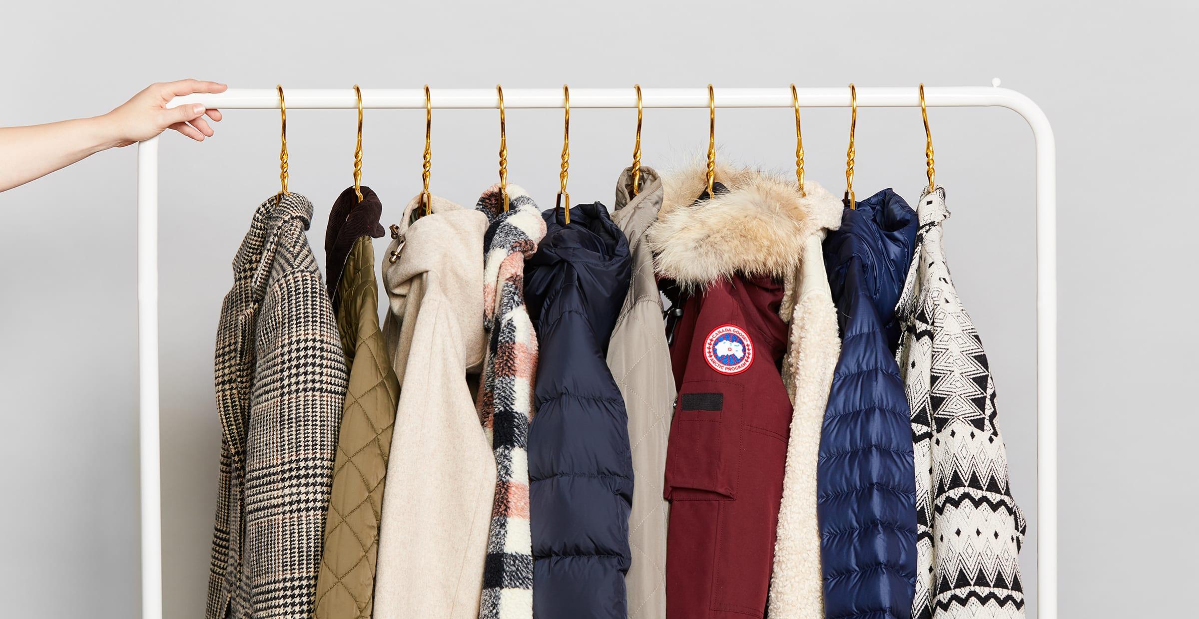 Rack of women's coats