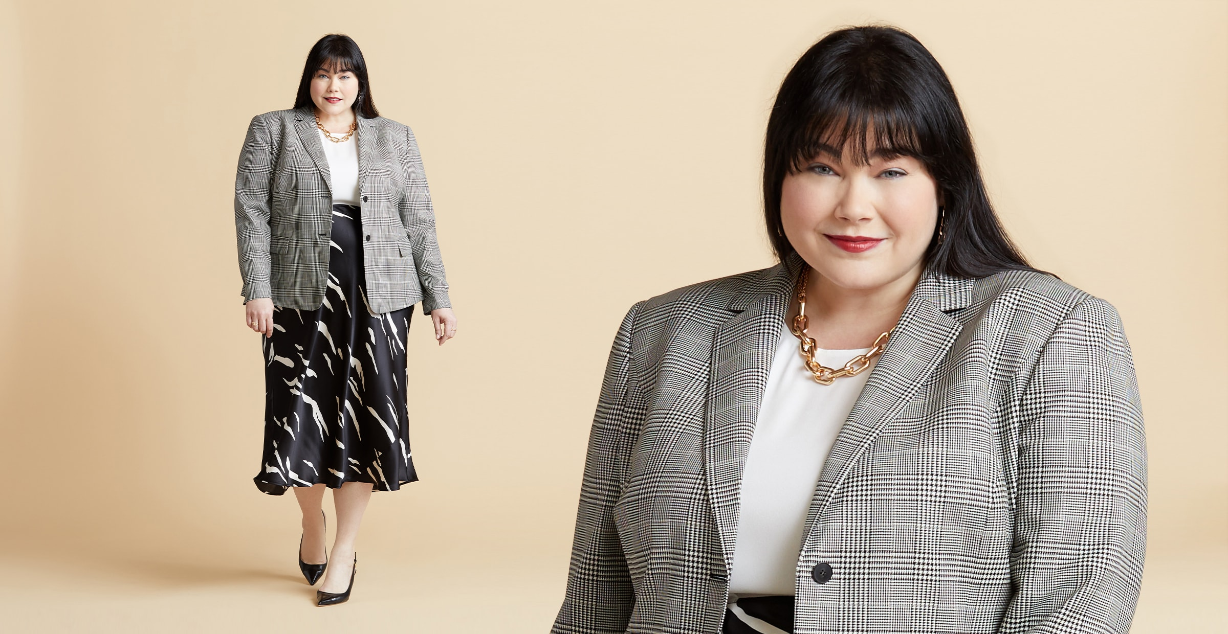 Plus-size work outfit