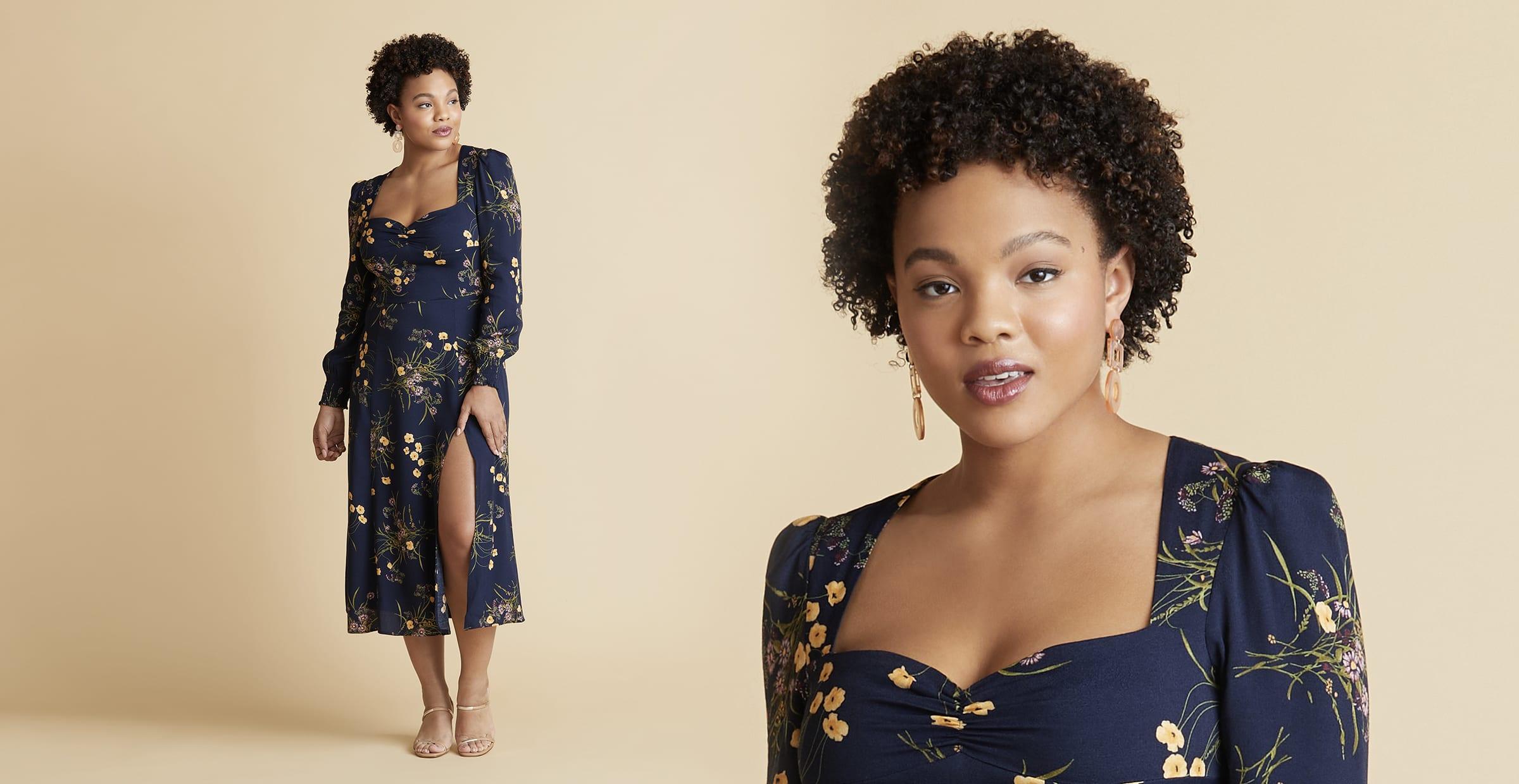 Apple Shape Midi Dress