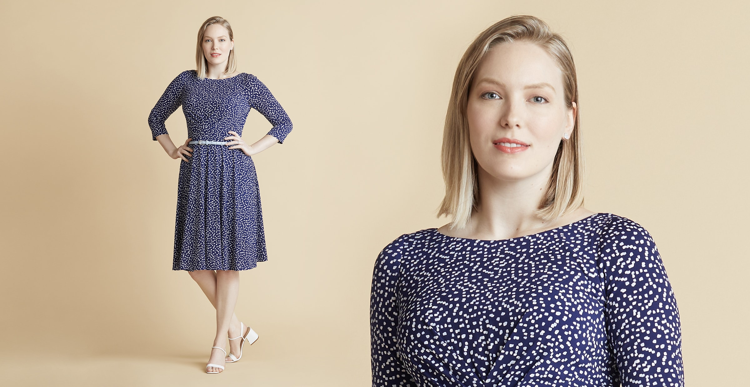 Pear Shape Fit and Flare Dress