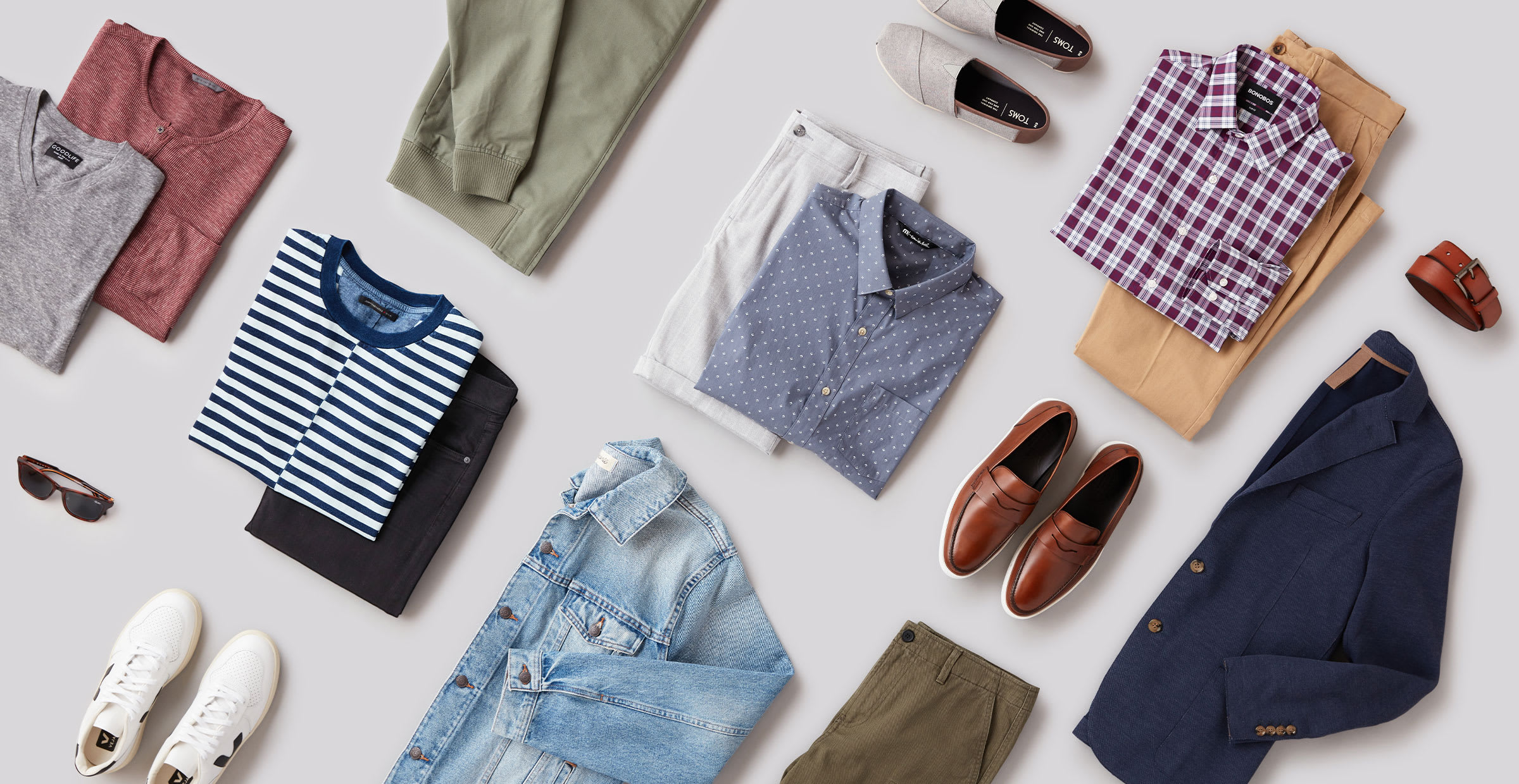 Men's sustainable clothing pieces