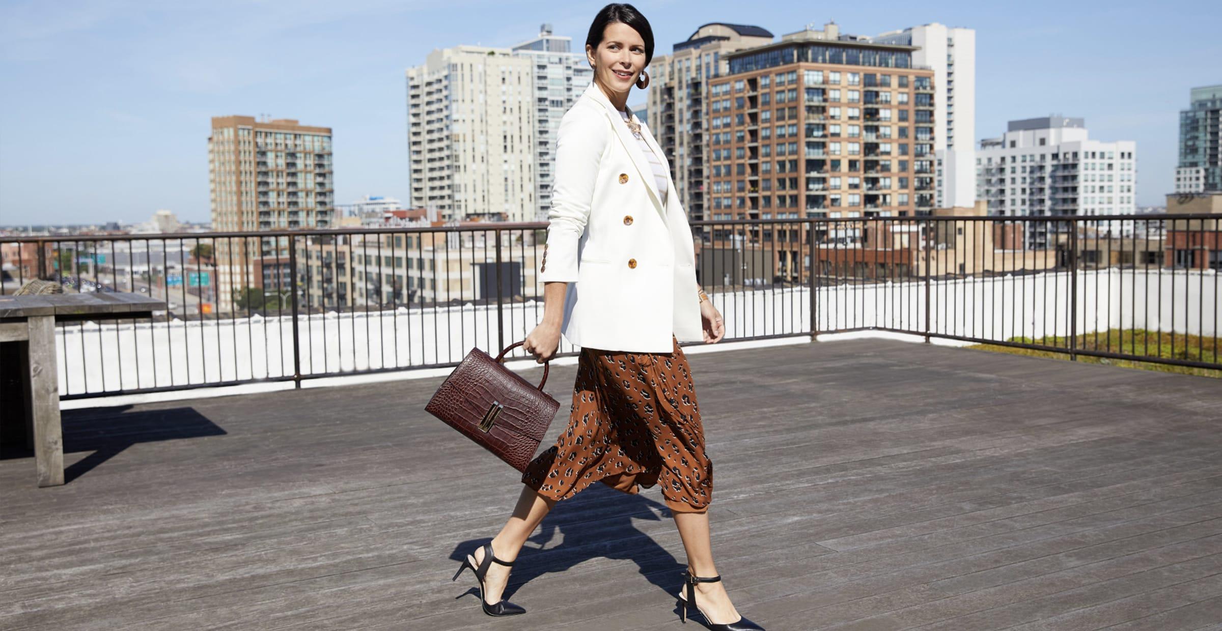 stylish working woman
