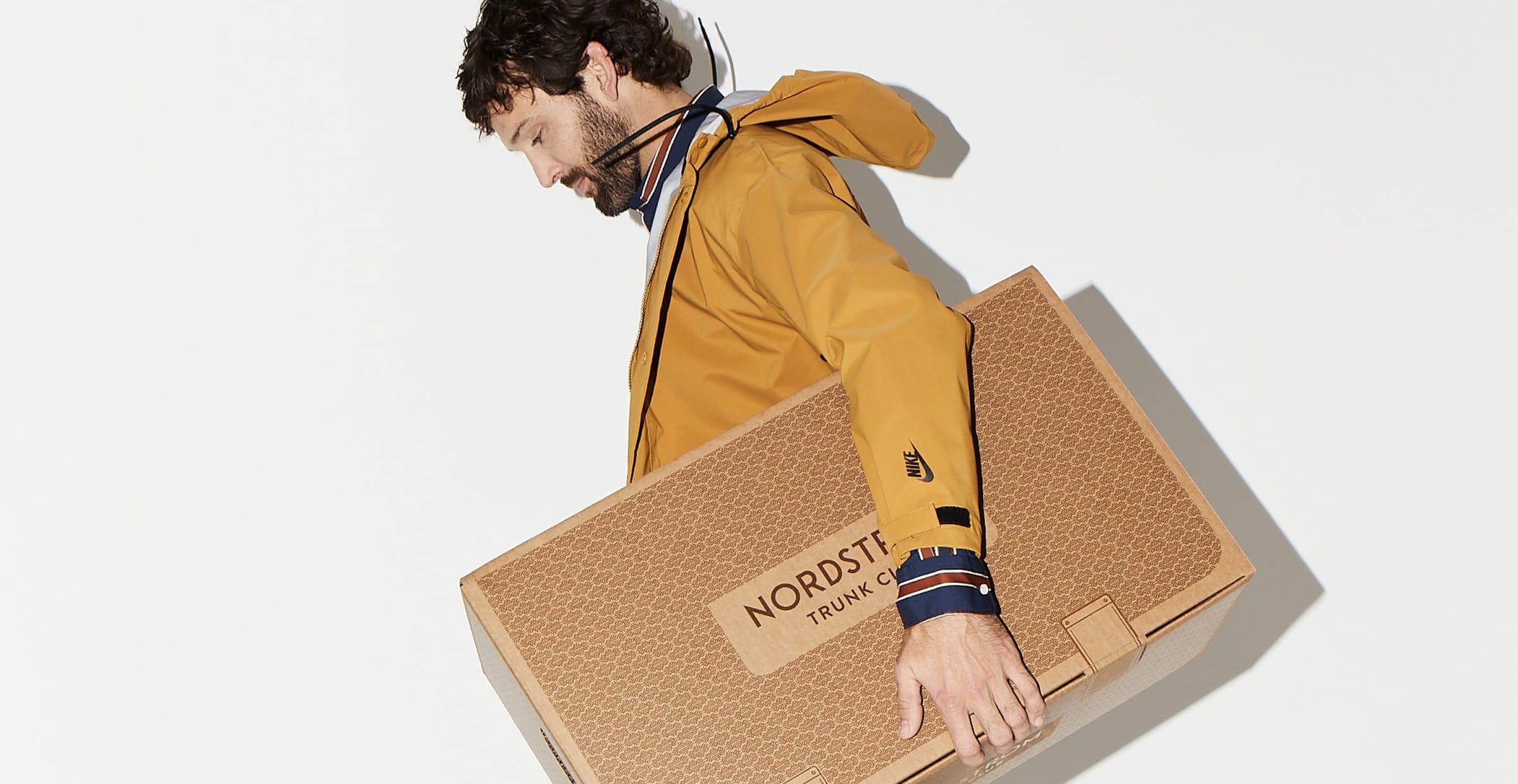Man carrying subscription box