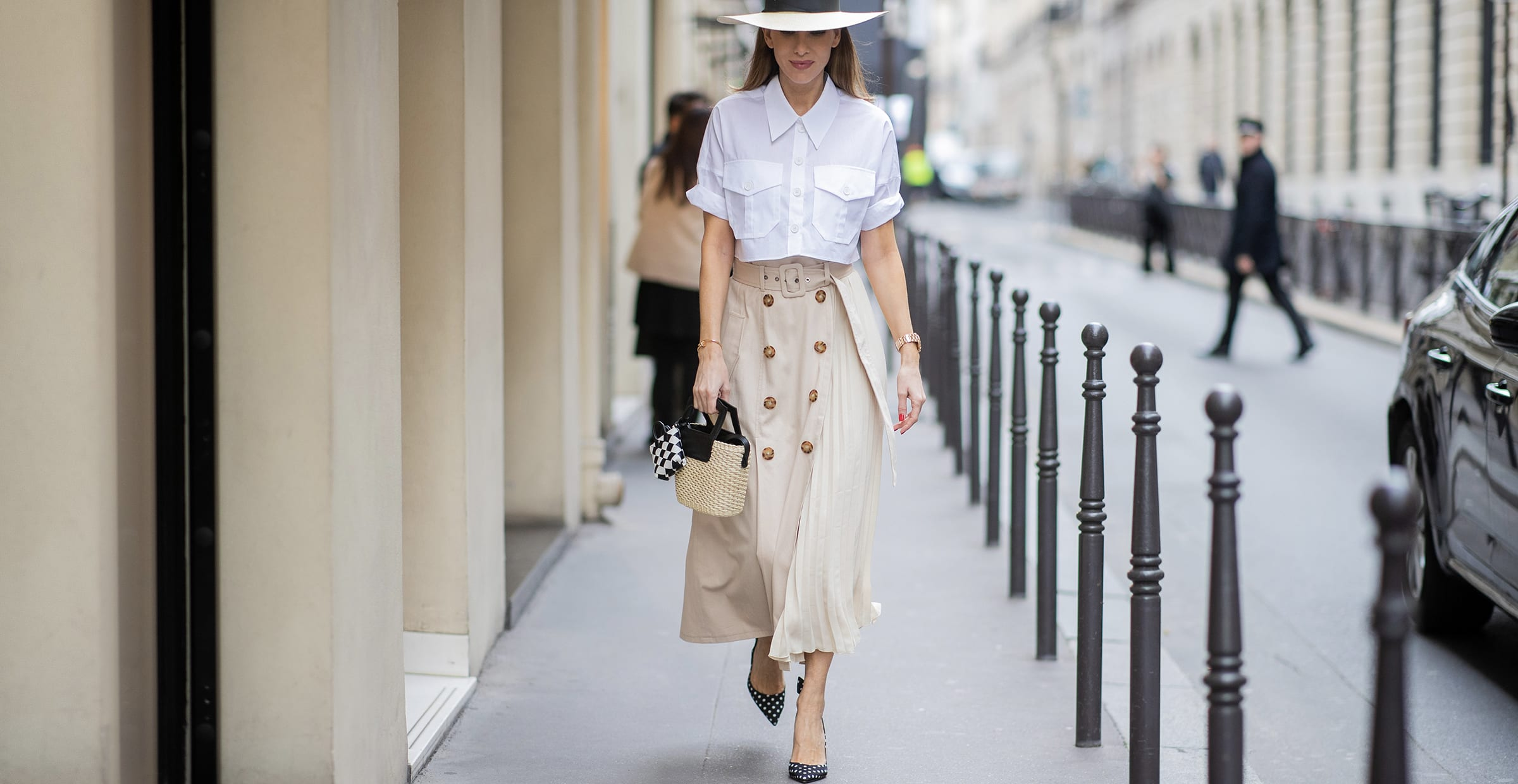 Women in a long skirt