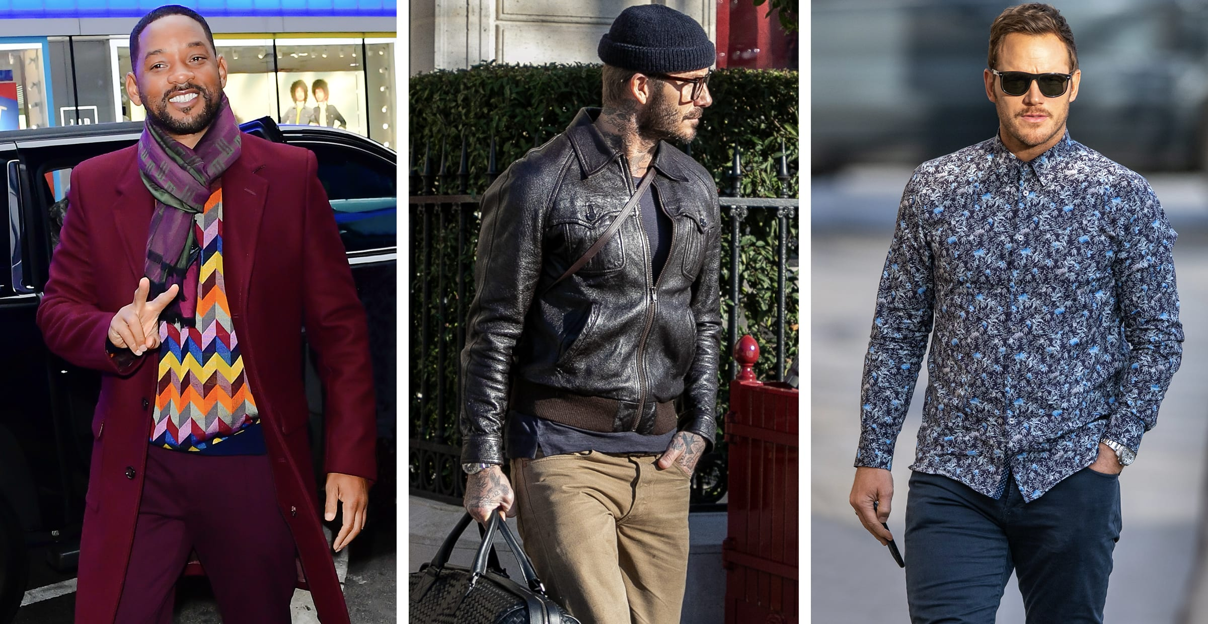 Will Smith, David Beckham, and Chris Pratt featured as our celebrity dad's
