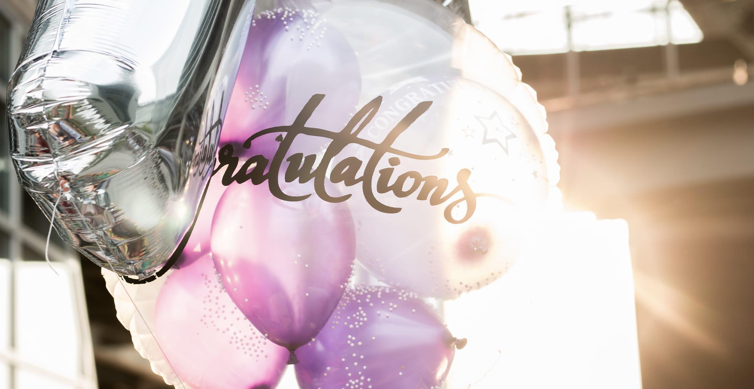 Congratulation party balloons