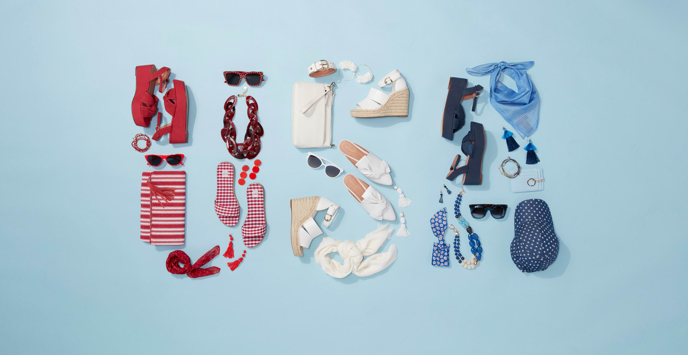 red, white and blue 4th of July outfits