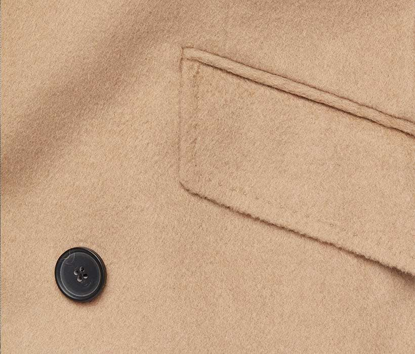 Equestrian-style hacking pocket with functional flap