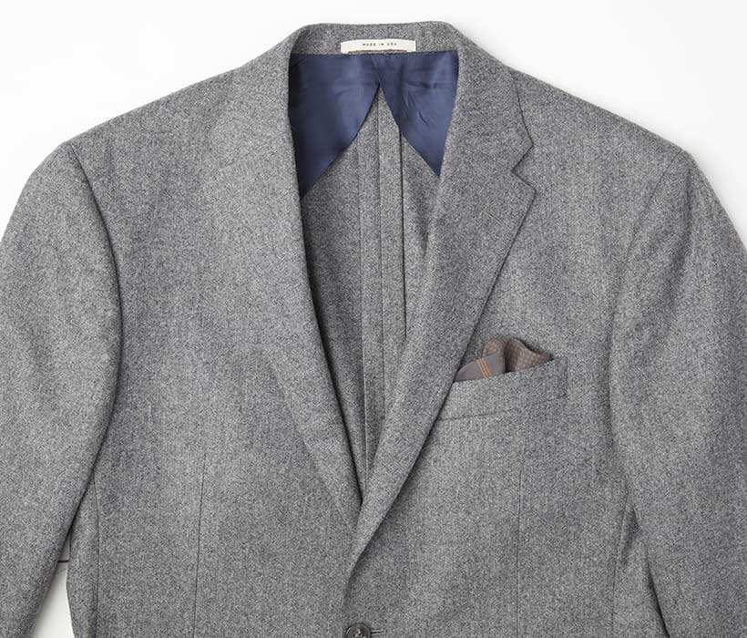 Quarter lining and deconstructed design for a more casual look