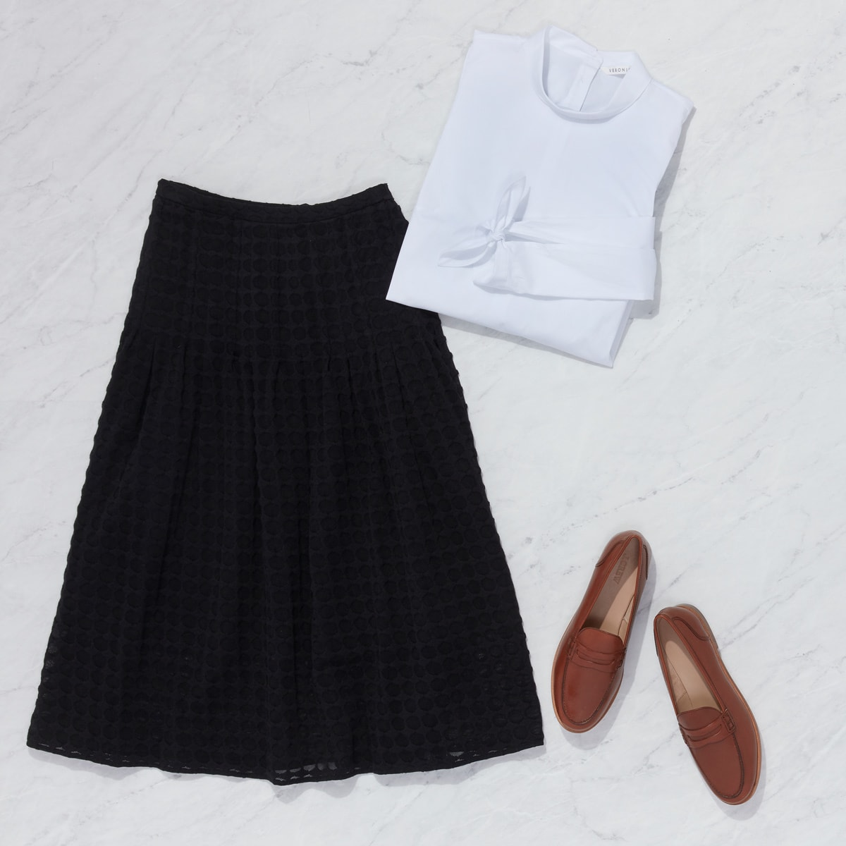 Dress and midi skirt outfit for women