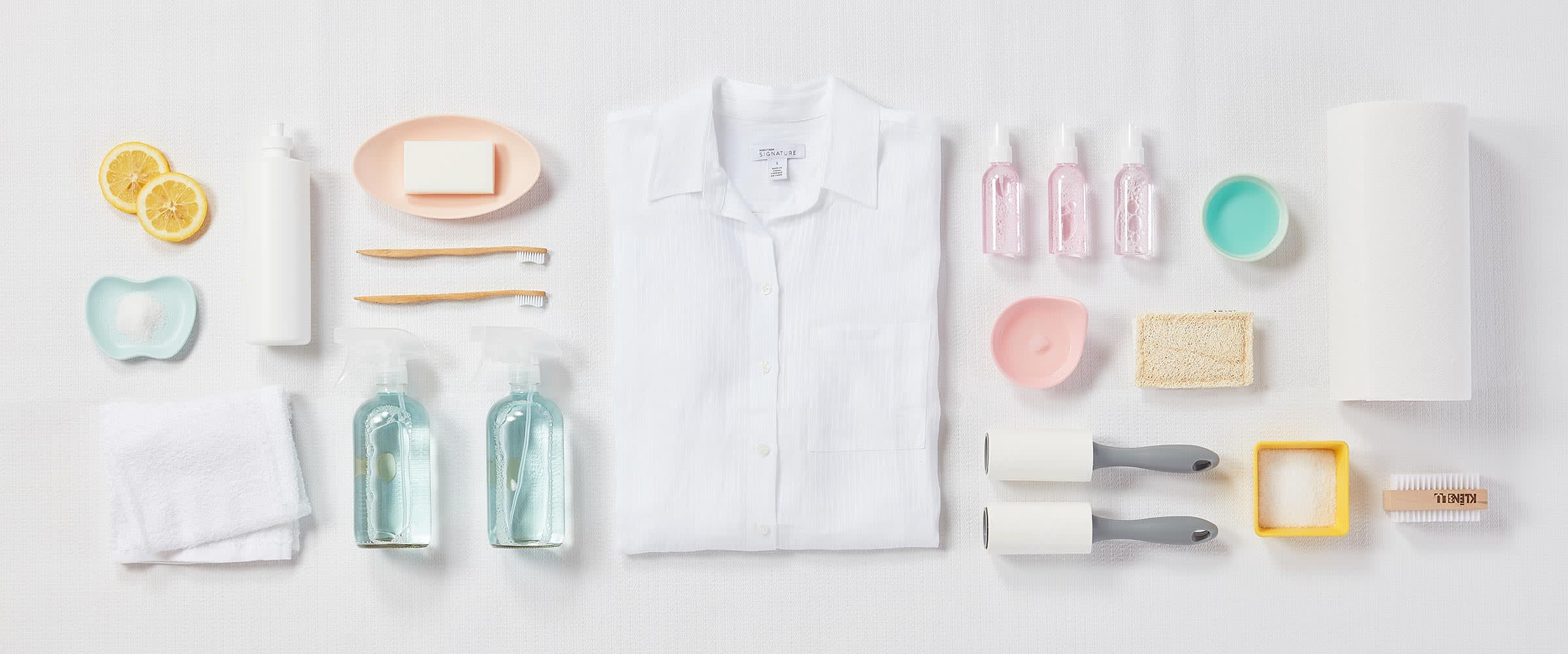 White clothing care kit