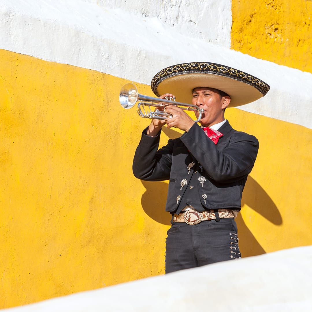 A mariachi trumpet player