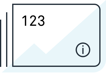 Graph and information icon