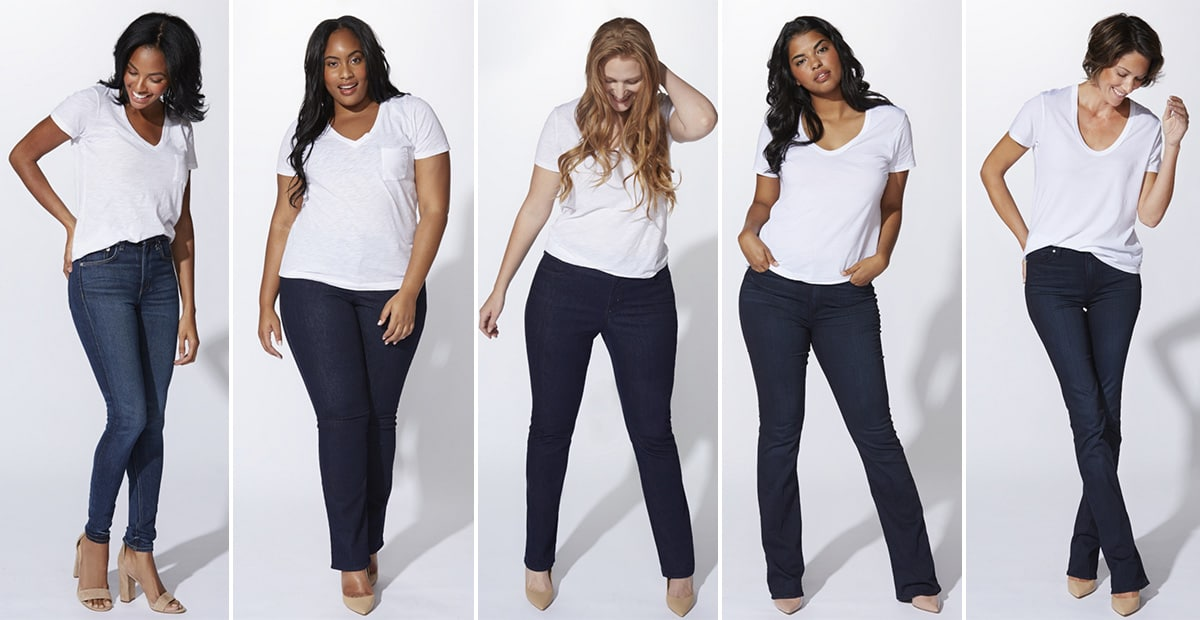 Denim Styles for Five Different Women's Bodies