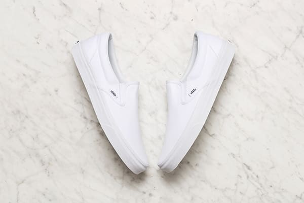 White Vans shoes for men