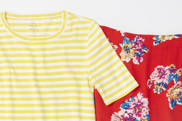 Women's stripes and floral