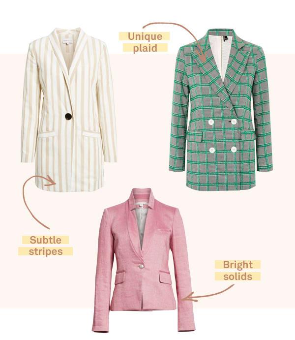 Women's bold blazers