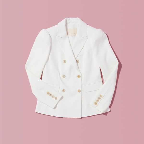 Women's white blazer