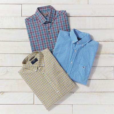 Gingham button-downs for men