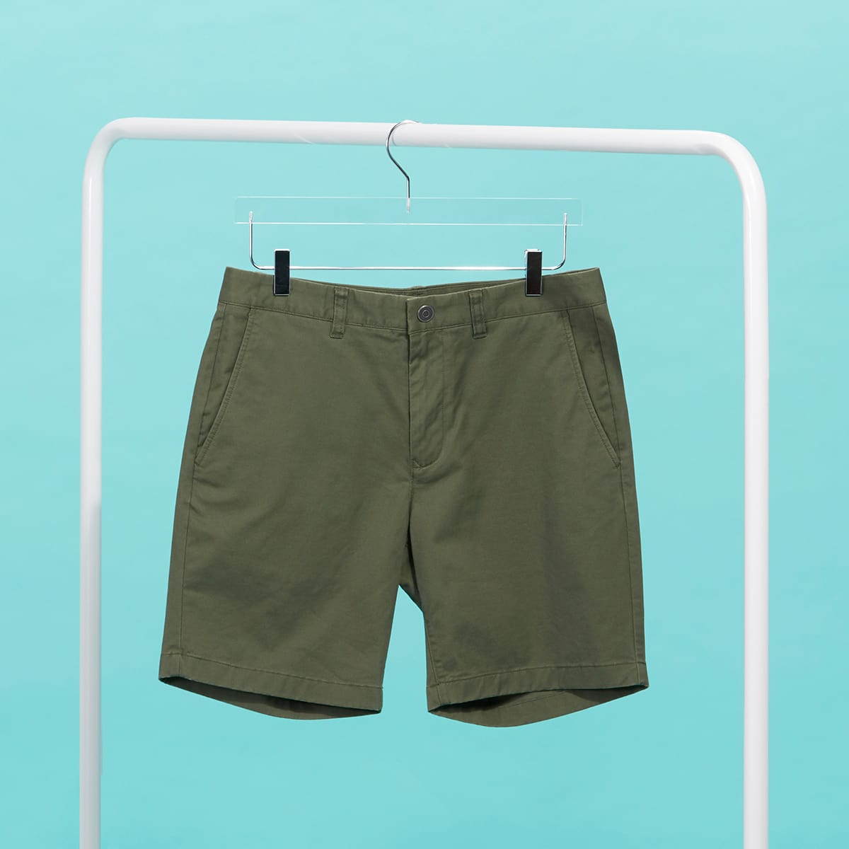 Green shorts for men