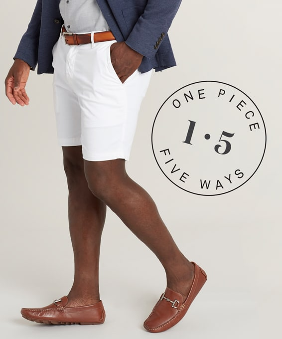 1 Piece, 5 Ways: White Shorts