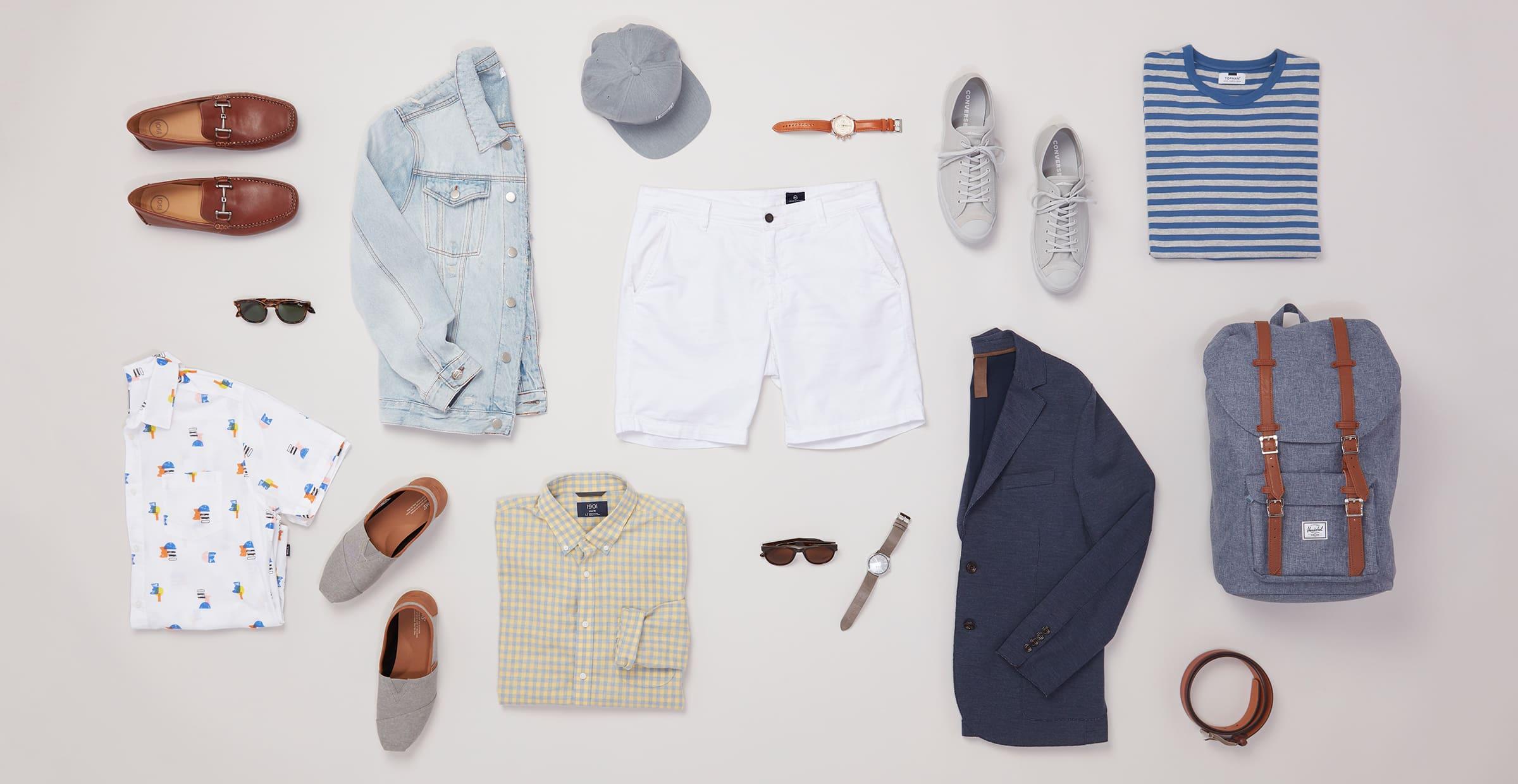 1 Piece, 5 Ways: White Shorts