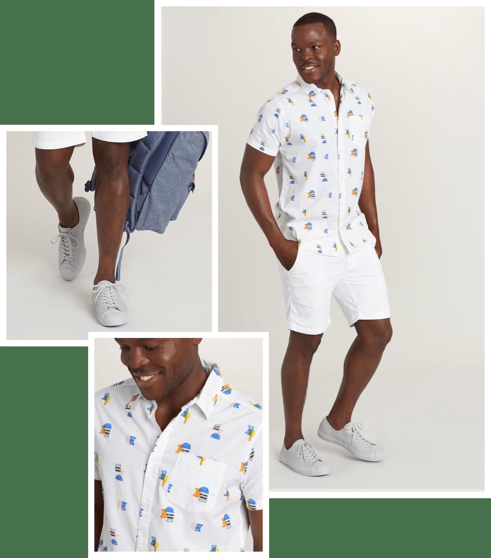 Weekend getaway outfit for men