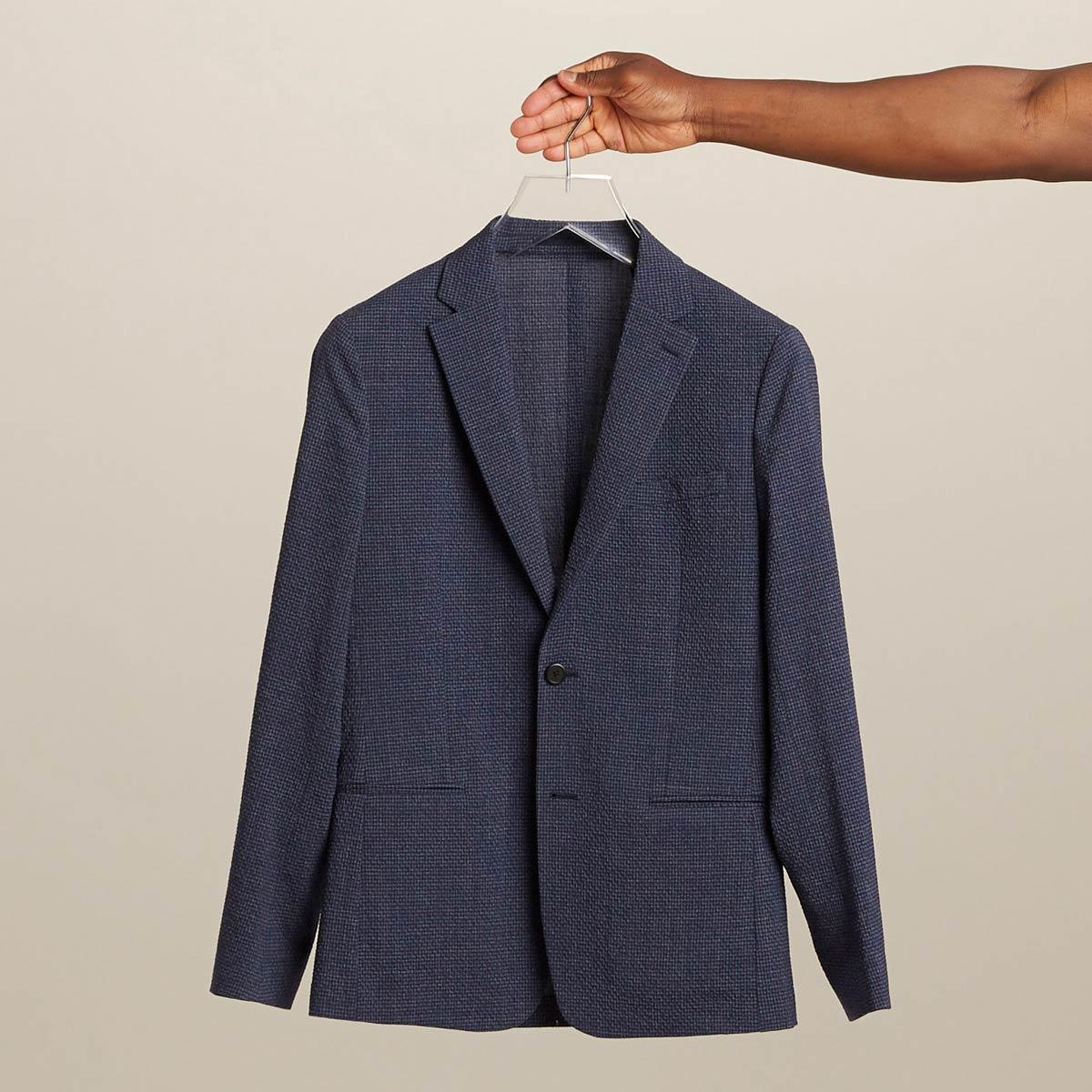 Seersucker jacket for men