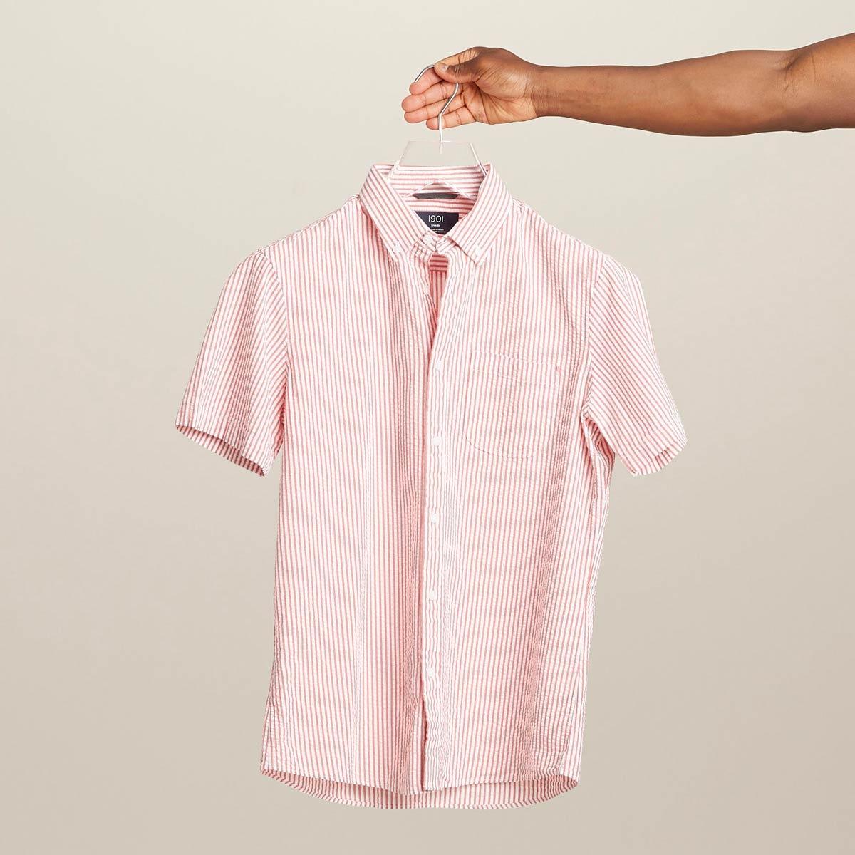 Seersucker shirt for men