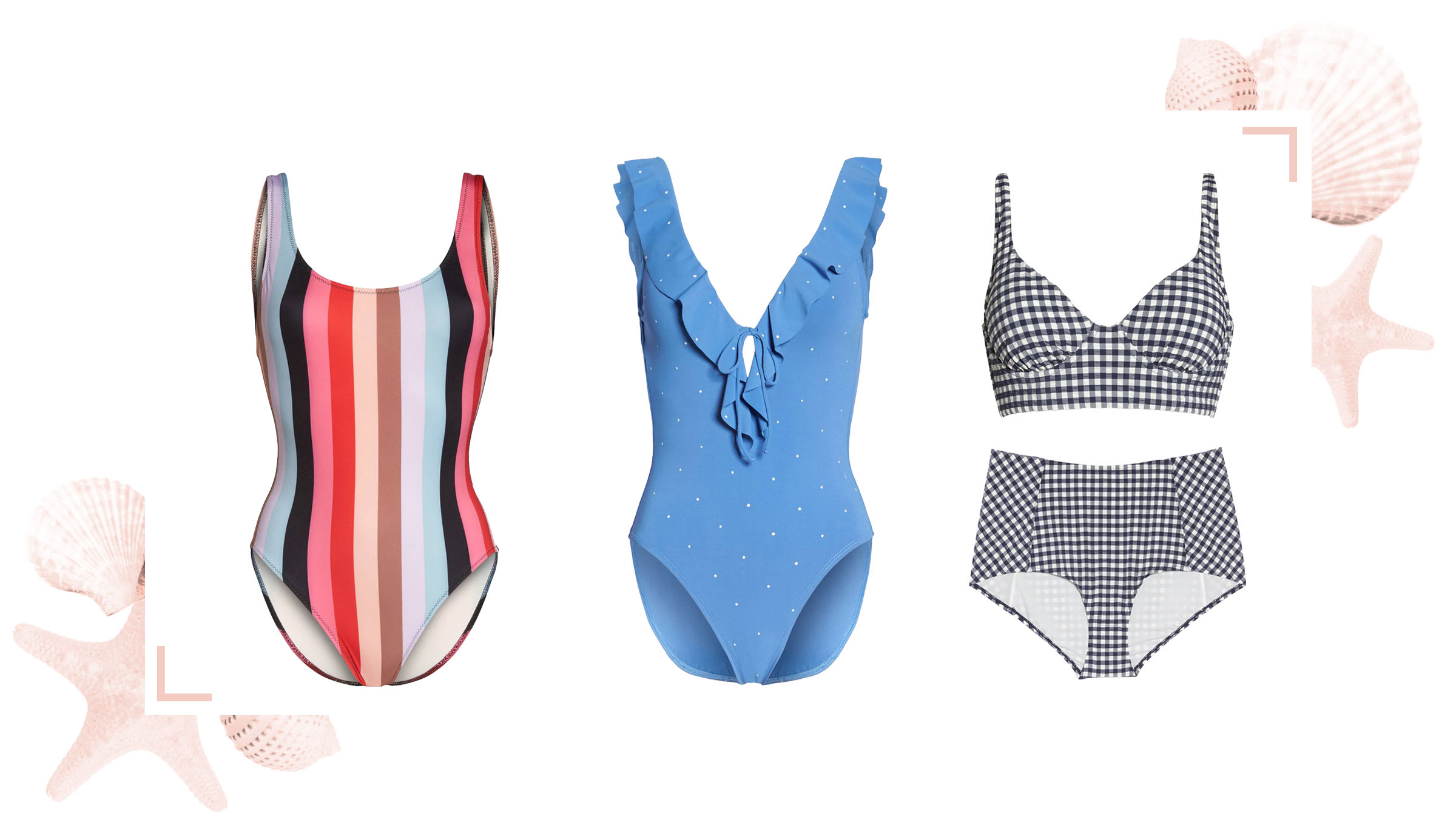 Preppy swimsuits for a Martha's Vineyard vacation