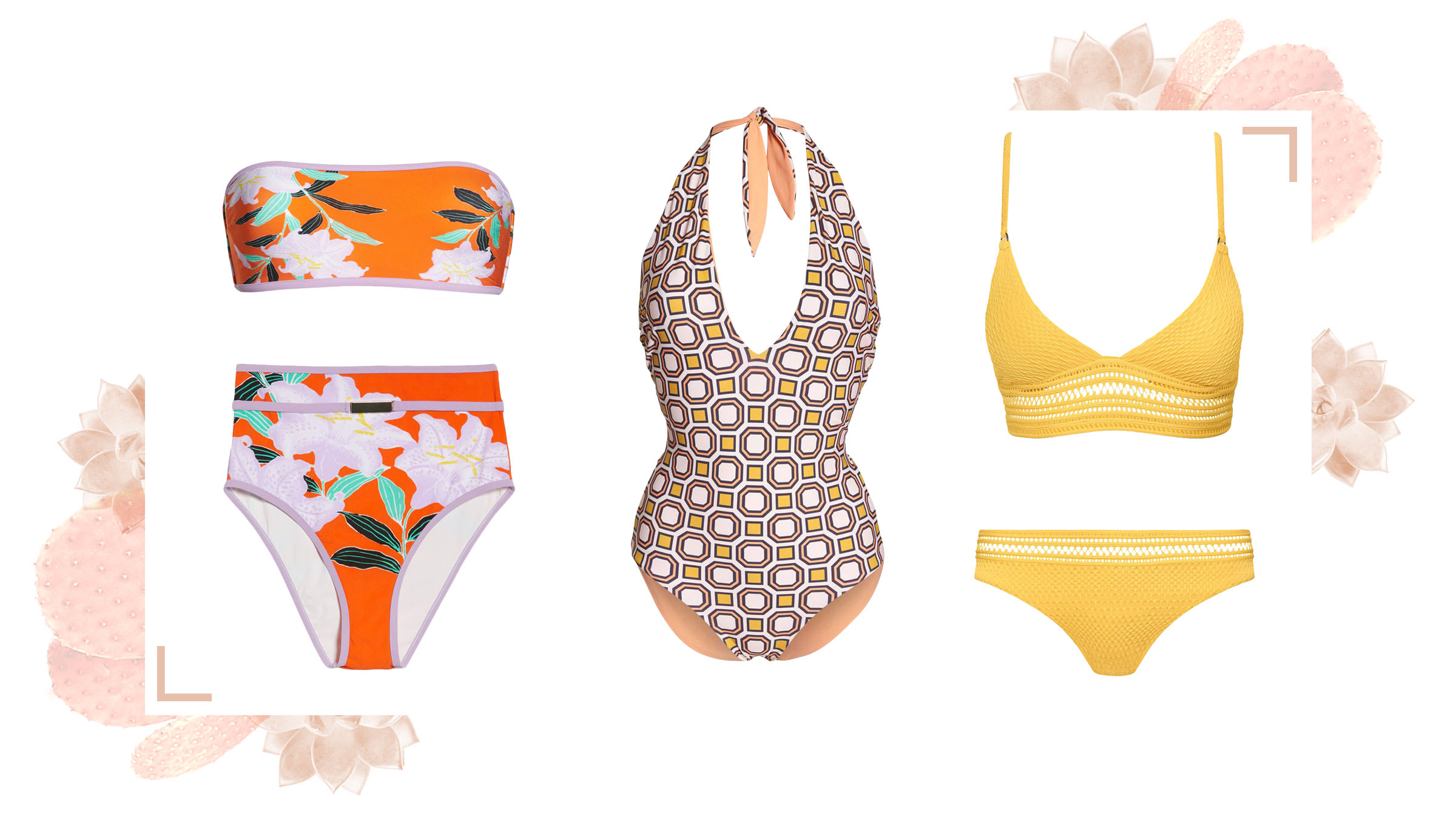 '70s inspired swimwear for a Palm Springs vacation