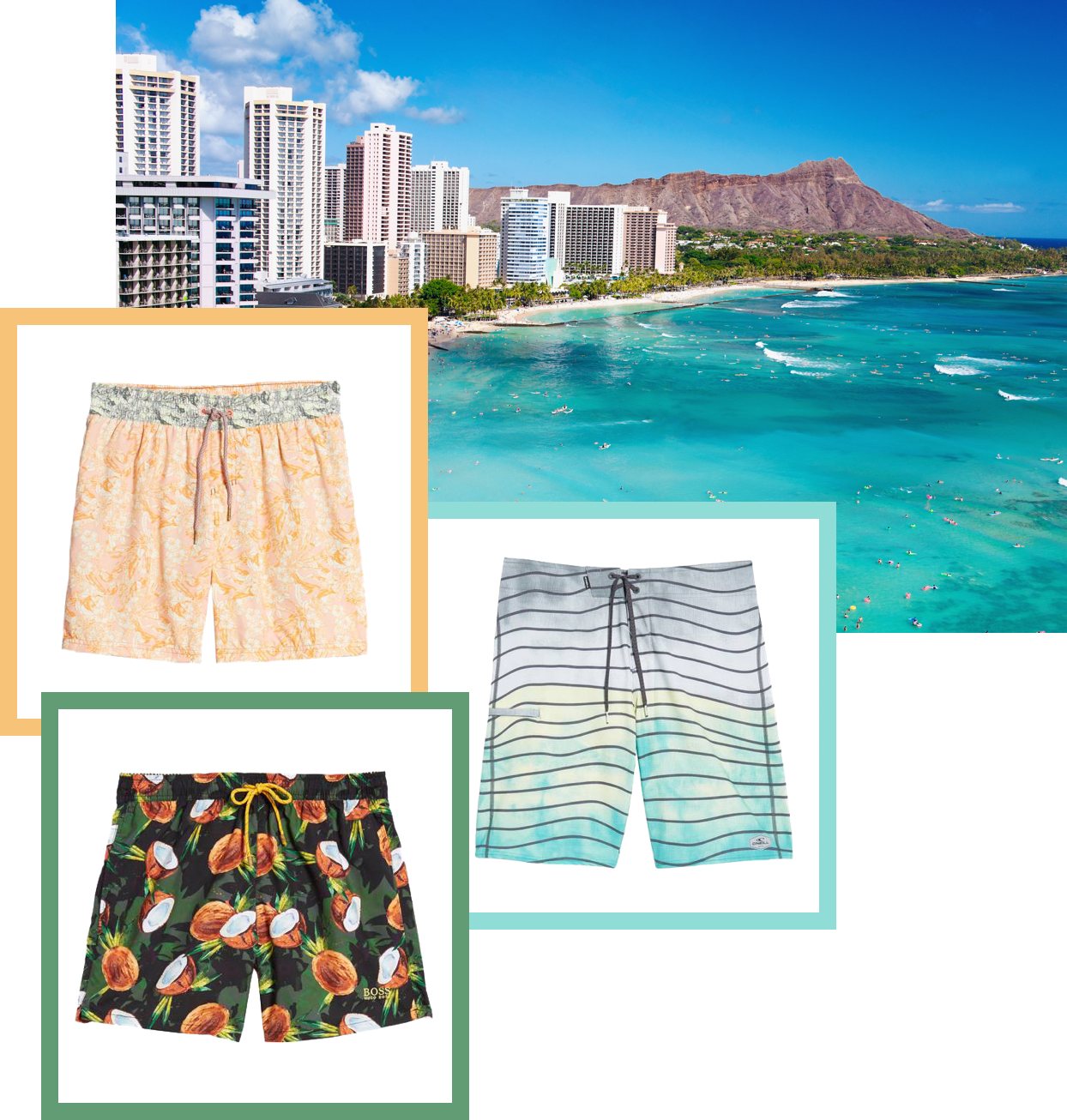 Swimsuits inspired by Honolulu