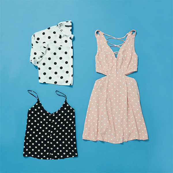Large polka dot prints for women