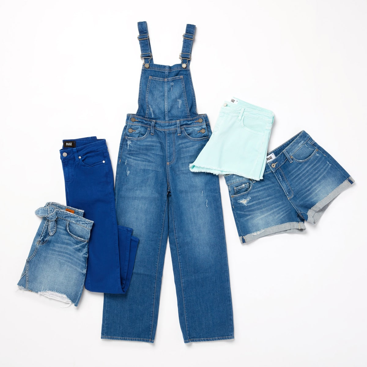 Paige denim also comes in overalls, skirts, shorts, and jackets