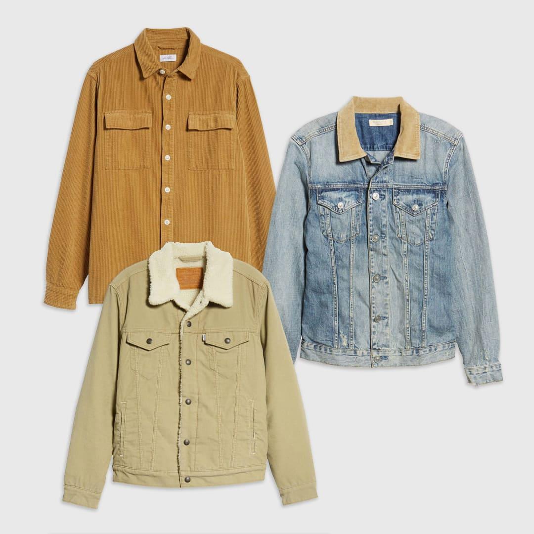 Corduroy outerwear for men