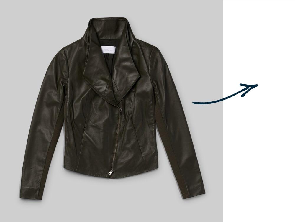 Classic black moto jacket