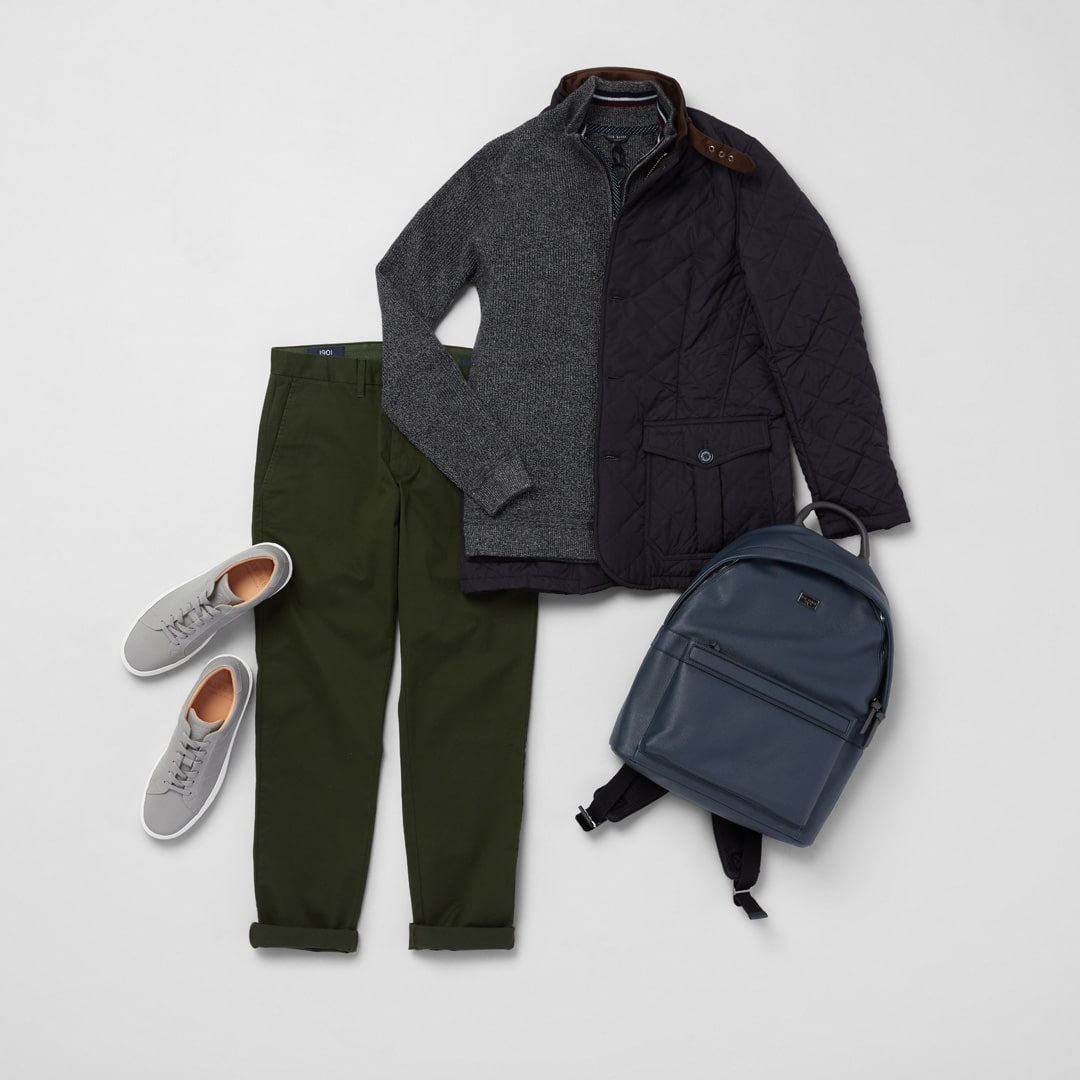 Sweater weather look for men