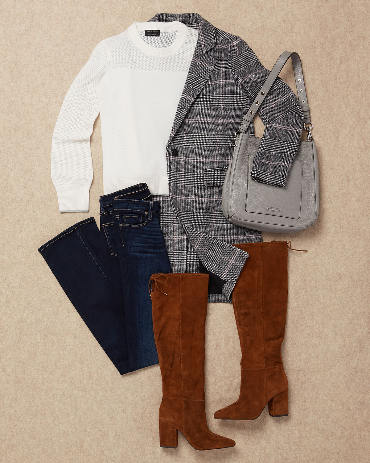 Denim with dressy sweater