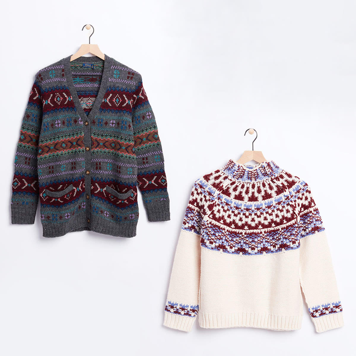 Traditional Fairisle sweaters
